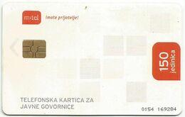 Bosnia (Serb Republic) Chipcard 150 UNITS - Bosnie