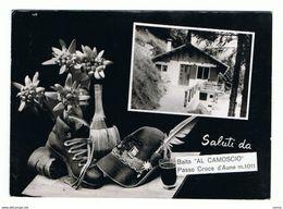 """PASSO  CROCE  D' AUNE (BL):  SALUTI  DA ... -  BAITA  """" AL  CAMOSCIO """"  -  FOTO  -  FG - Hotels & Gaststätten"""