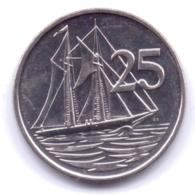CAYMAN ISLANDS 2017: 25 Cents, KM 134 - Cayman Islands