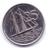 CAYMAN ISLANDS 2013: 25 Cents, KM 134 - Cayman Islands