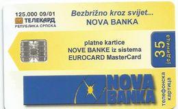 Bosnia (Serb Republic) 2001. Chipcard 35 UNITS 125.000-09/01 - Bosnie