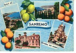 Sanremo Salut De Riviera Fiori 4 Vues: Panorama , Casin , Chesa Russa ( Orange, Citron - San Remo