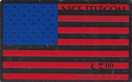 ESTADOS UNIDOS. USA Flag (Metallic Silver Looking Background). 5,00$. NIT-D1. (149) - Vereinigte Staaten