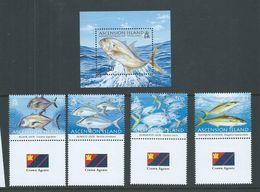 Ascension 2006 Sport Fishing Jacks Set Of 4 & Miniature Sheet MNH - Ascensione