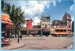 """Paris-Le Moulin Rouge-Cabaret-""""Constantin Le Grand à L'affiche+/-1962-Brasserie Des Touristes-Vieilles Voitures-Vintage - Parijs Bij Nacht"""