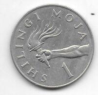 *tanzania 1 Shilling 1974  Km 4 - Tanzanía