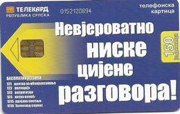 Bosnia (Serb Republic) Chip Card 150 UNITS - Bosnie
