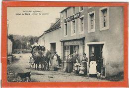 LOZERE : Fournels,  Hotel Du Nord, Départ Du Courrier, TOP CARTE ANIMEE... - Frankreich