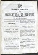 Giornale Officiale Della Prefettura Di Bergamo - Norme E Decreti Anno II - 1864 - Libri, Riviste, Fumetti