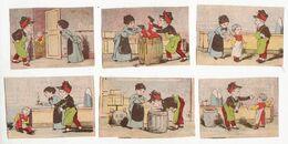 Chromo  Sans Pub    Lot De 6     Couple, Enfant, Tonneau Etc - Trade Cards