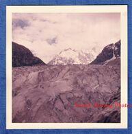 Photo Ancienne Snapshot - La MER De GLACE - épreuve Kodacolor - Vers 1961 1962 - Chamonix Mont Blanc Alpes - Orte