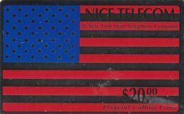 ESTADOS UNIDOS. USA Flag (Metallic Silver Looking Background). 20,00$. 1993-09. NIT-H&GD4. (152) - Vereinigte Staaten