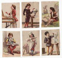 Chromo  Sans Pub    Lot De 6     Violoniste, Sculpteur, Pianiste, Chèvre, Globe, Livre Etc - Trade Cards