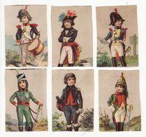 Chromo  Sans Pub    Lot De 6     Soldats, épée, Tambour Etc - Trade Cards