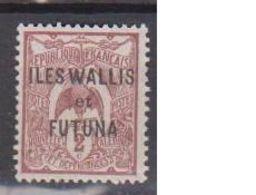 WALLIS ET FUTUNA        N°  YVERT   2      NEUF AVEC CHARNIERES      ( CHAR   03/55 ) - Wallis And Futuna