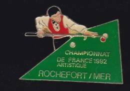 66324-Pin's.Billard Artistique.Rochefort-sur-Mer. Charente-Maritime.signé Tosca. - Biliardo