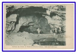25475  CPA  Intérieur Des Grottes De BAUME LES MESSIEURS - Salle Des Petits Lacs !! Cachet Jour Visite 1902 - Baume-les-Messieurs