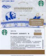 Starbucks China 2020 Coffee Blue And White Panda Gift Card RMB100 - Altre Collezioni