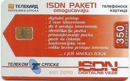 Bosnia (Serb Republic) 2001. Chip Card 350 UNITS - Bosnie