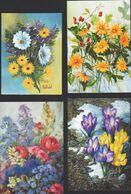 Biglietti Augurali Usati 4 Artisti Con La Bocca R. Christensen. P.Van Del Hulst Ho Sik Lee W. Kmiecik Flowers MAT00005 - Weihnachten