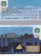 Starbucks China 2020 Summer Night Forest  Gift Card RMB100 - Altre Collezioni