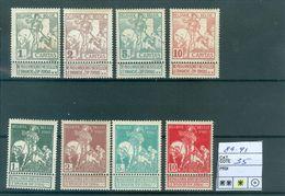 84-91 X  Côte  35.00€ - 1910-1911 Caritas