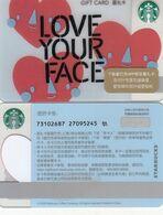 Starbucks China 2020 Love Your Face  Gift Card RMB100 - Altre Collezioni