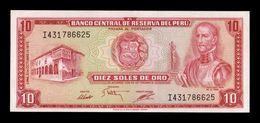 Peru 10 Soles De Oro 1975 Pick 106 SC UNC - Perù