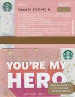 Starbucks China 2020 You Are My Hero Gift Card RMB100 - Altre Collezioni