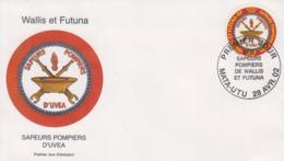 Enveloppe  FDC  1er   Jour    WALLIS  ET  FUTUNA    Sapeurs - Pompiers   D' UVEA   2002 - Pompieri