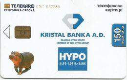 Bosnia (Serb Republic)  2003. Chip Card 150 UNITS HYPO - Bosnie