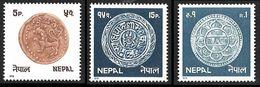 NEPAL 1979  - YT 354 - 356 - 358 - Monnaies  - NEUFS** - Nepal