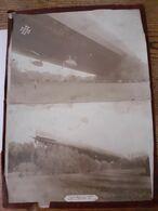 2 Grandes Photos D'un Zeppelin Abattu En Argonne En 1914 Poilus  Aviation Trancheestranchees - Ausrüstung