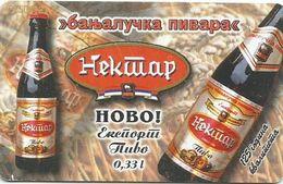 Bosnia (Serb Republic)  1999. NEKTAR BEER Chip Card 750 UNITS 25.000 - 09/99 - Bosnie