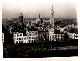 Photo Originale Vue Panoramique Et Plongeant Sur Ostende En Novembre 1917 Von Hafenbahnhof ( Gare Portuaire) - Orte