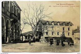 CPA - CASTELNAU-MAGNOAC - L'Hôtel BAUP (animée) - Castelnau Magnoac