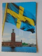 D172892 Sweden Sverige  STOCKHOLM -flag  Stamp Nobel Prize 1918 HABER - Suède
