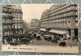 CPA - PARIS - Rue Saint-Lazare - Très Belle Animation - Arrondissement: 08
