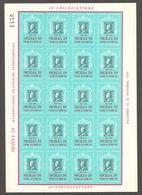 1959 Italy - Philatelist Memorial Sheet / Stamp On Stamp - Philatelic Exhibition - Sicilia - Stamps On Stamps