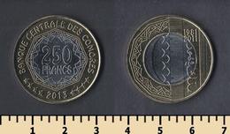 Comoros 250 Francs 2013 - Comorre