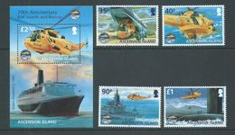 Ascension 2011 Royal Air Force Search & Rescue Set 4 & Miniature Sheet MNH - Ascension