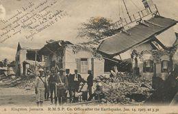 Kingston RMSP Co Office After The Earthquake . Terremoto. Jan. 14 , 1907 3h.30 Radio TSF - Jamaica