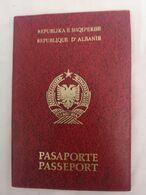 Passport Albania Shqiperise Passaporte 1991 Rare - Historische Dokumente