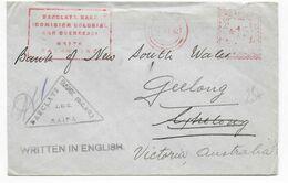 PALESTINE - 1942 - ENVELOPPE Avec EMA BARCLAYS BANK De HAIFA => AUSTRALIE - Palestine