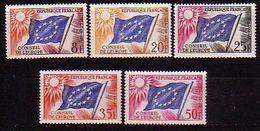 FRANCE - Service - 1958 - Conseil De L'Europe - 5v** - Neufs