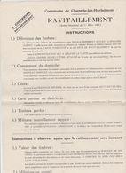 Chapelle Lez Herlaimont 1940 - Instructions Ravitaillement Et Horaire De La 1ère Distribution Des Timbres Imprimé Sur .. - 1900 – 1949