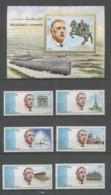 003 Charles De Gaulle - Sharjah N° 875/882 A + Bloc 95 - Sharjah