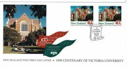 New Zealand 1999 Centenary Of Victoria University FDC - FDC