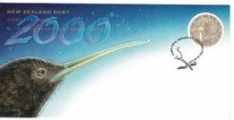 New Zealand 2000 Gold Round Kiwi $1.10 FDC - FDC