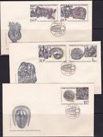 Czechoslovakia, 1968, Fossils, Geology Congress, FDC - Fossils